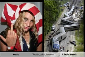 Ke$ha Totally Looks Like A Train Wreck