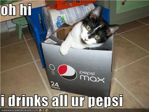 oh hi  i drinks all ur pepsi