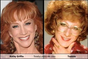 Kathy Griffin Totally Looks Like Tootsie