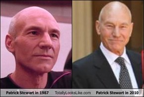 Patrick Stewart in 1987 Totally Looks Like Patrick Stewart in 2010
