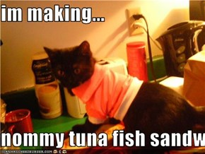 im making...  nommy tuna fish sandwitch