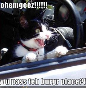 ohemgeez!!!!!!  y u pass teh burgr place?!!