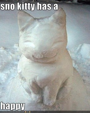sno kitty has a  happy