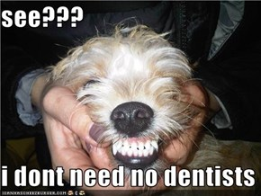 see???  i dont need no dentists