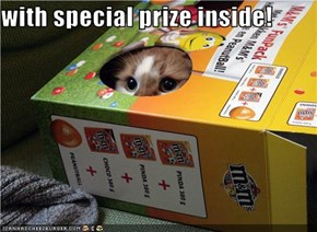 with special prize inside!