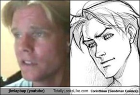 jimlapbap (youtube) Totally Looks Like Corinthian (Sandman Comics)