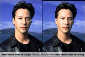 keanu reeves when he's angry Totally Looks Like keanu reeves when he's happy