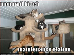 monorail kitteh  maintenance station