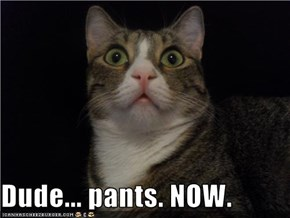 Dude... pants. NOW.