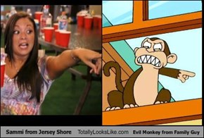 Sammi from Jersey Shore Totally Looks Like Evil Monkey from Family Guy