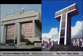 Port Huron, Michigan's City Hall Totally Looks Like The Teen Titan Tower