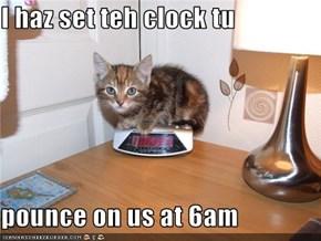 I haz set teh clock