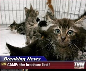 Breaking News - CAMP: the brochure lied!