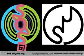 SOS Brigade logo Totally Looks Like Japanese Industrial Standard logo