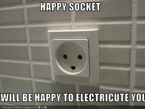HAPPY SOCKET  WILL BE HAPPY TO ELECTRICUTE YOU