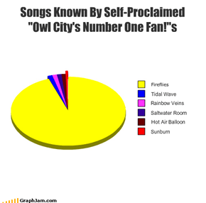 "Songs Known By Self-Proclaimed  ""Owl City's Number One Fan!""s"