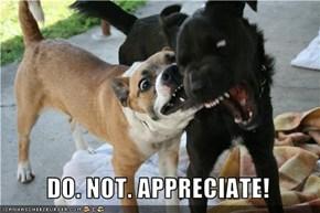 DO. NOT. APPRECIATE!