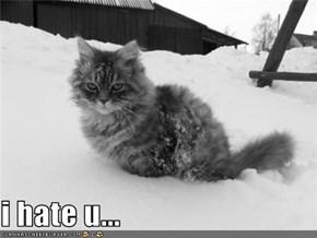 i hate u...