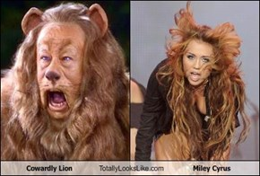 Cowardly Lion Totally Looks Like Miley Cyrus