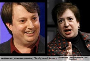 David Mitchell (British Actor/Comedian) Totally Looks Like Elena Kagan (pending Supreme Court Nominee)