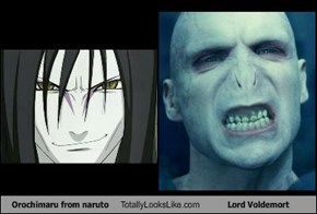 Orochimaru from naruto Totally Looks Like Lord Voldemort