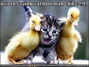 u were saying wat bout mah chiks?!!1!