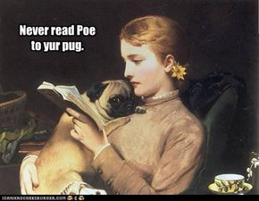 Never read Poe  to yur pug.