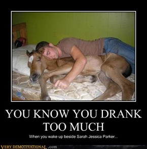 YOU KNOW YOU DRANK TOO MUCH
