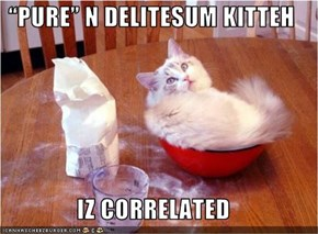 """PURE"" N DELITESUM KITTEH  IZ CORRELATED"