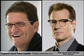 "England coach Fabio Capello Totally Looks Like Noah Bennet (Jack Coleman)  from ""Heroes"""
