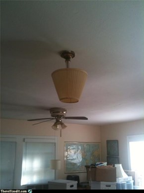 Great, The Ceiling Light Is Drunk Again