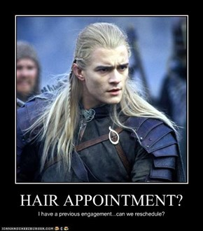 HAIR APPOINTMENT?