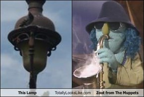 This Lamp Totally Looks Like Zoot from The Muppets