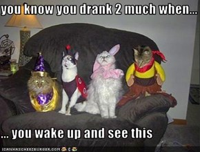 you know you drank 2 much when...   ... you wake up and see this