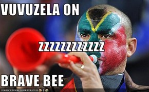 VUVUZELA ON zzzzzzzzzzzz BRAVE BEE