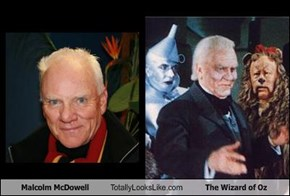 Malcolm McDowell Totally Looks Like The Wizard of Oz