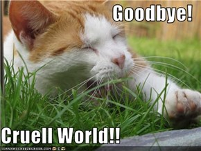 Goodbye!  Cruell World!!