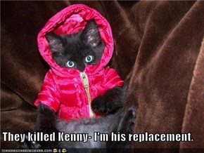 They killed Kenny- I'm his replacement.