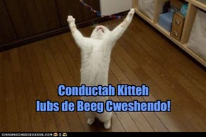 Conductah Kitteh  lubs de Beeg Cweshendo!
