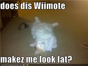 does dis Wiimote  makez me look fat?