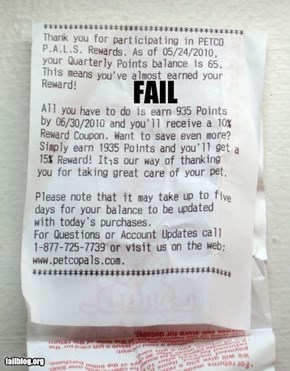Petco Rewards Fail
