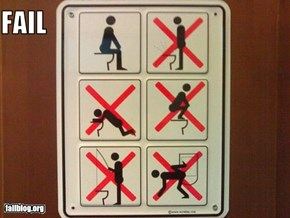 Bathroom Sign Fail