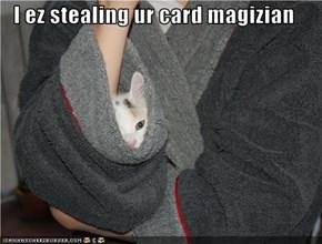 I ez stealing ur card magizian