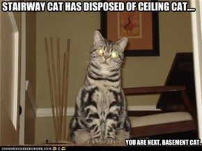 STAIRWAY CAT HAS DISPOSED OF CEILING CAT....