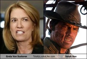 Greta Van Susteren Totally Looks Like Jonah Hex