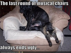 The last round of musical chairs  always ends ugly...