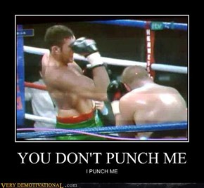 YOU DON'T PUNCH ME