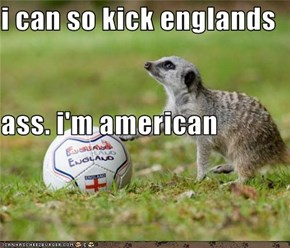 i can so kick englands  ass. i'm american