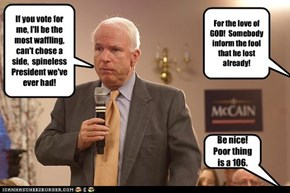 McCain is still campaigning