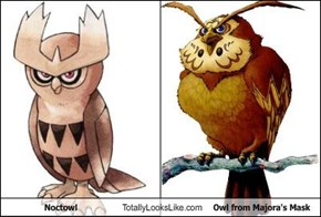 Noctowl Totally Looks Like Owl from Majora's Mask